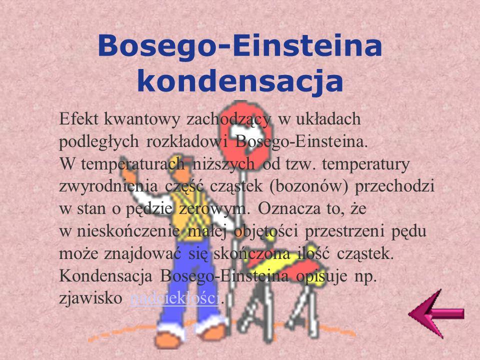 Bosego-Einsteina kondensacja