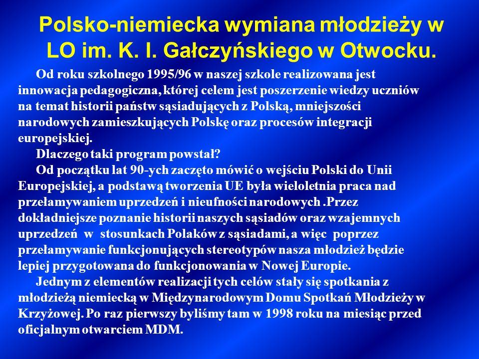 Polsko-niemiecka wymiana młodzieży w LO im. K. I