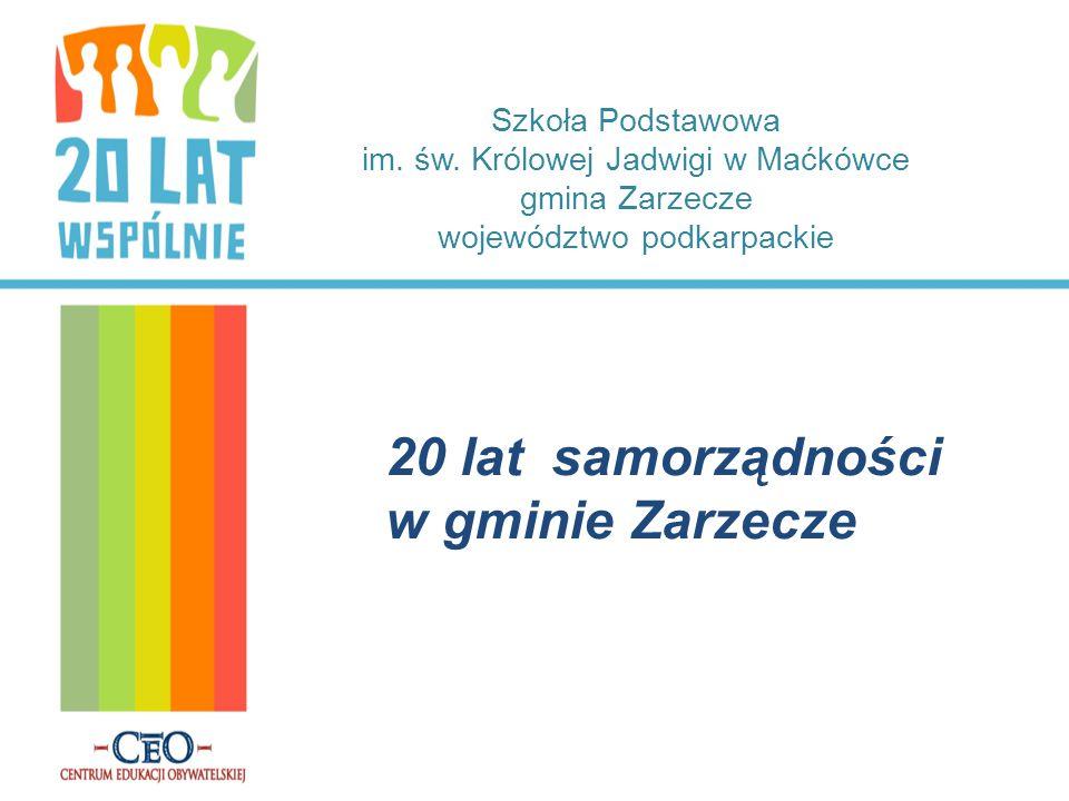 20 lat samorządności w gminie Zarzecze