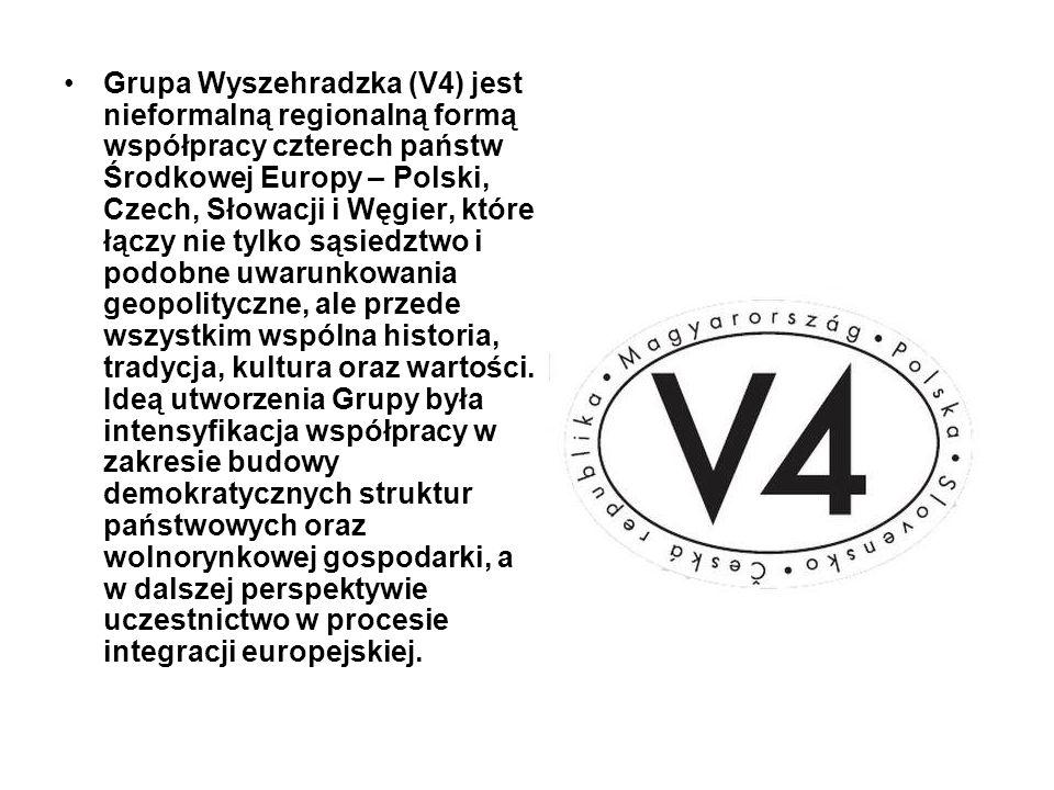 Grupa Wyszehradzka (V4) jest nieformalną regionalną formą współpracy czterech państw Środkowej Europy – Polski, Czech, Słowacji i Węgier, które łączy nie tylko sąsiedztwo i podobne uwarunkowania geopolityczne, ale przede wszystkim wspólna historia, tradycja, kultura oraz wartości.