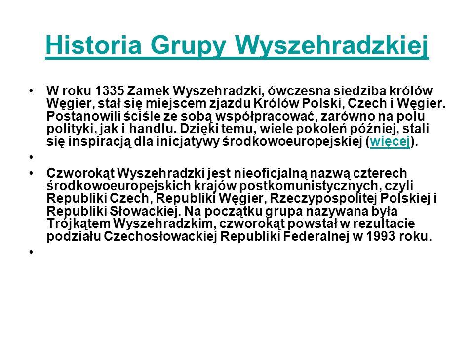 Historia Grupy Wyszehradzkiej