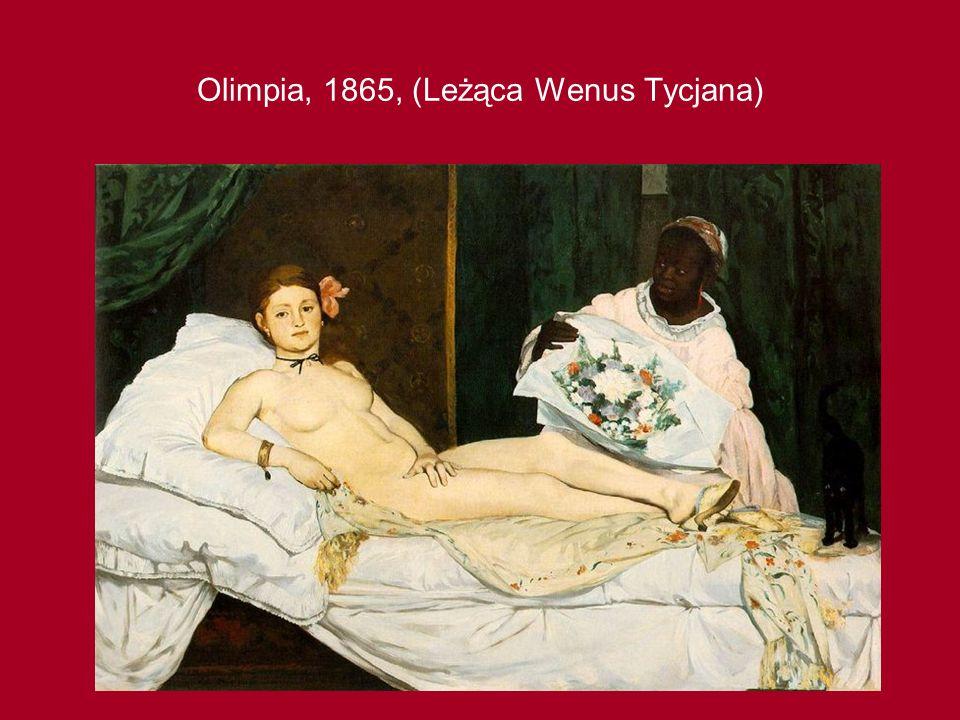 Olimpia, 1865, (Leżąca Wenus Tycjana)
