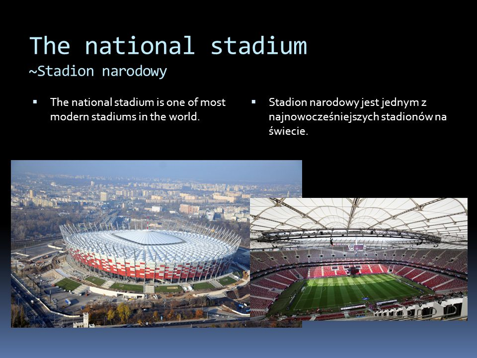 The national stadium ~Stadion narodowy