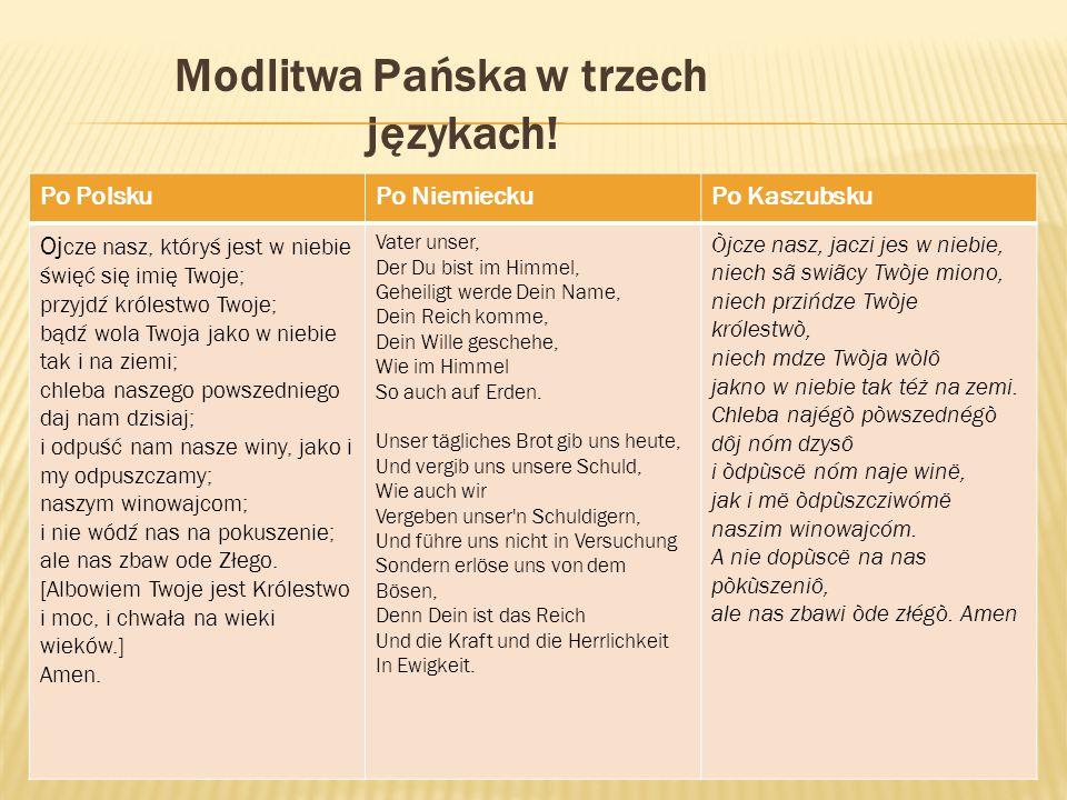 Modlitwa Pańska w trzech językach!