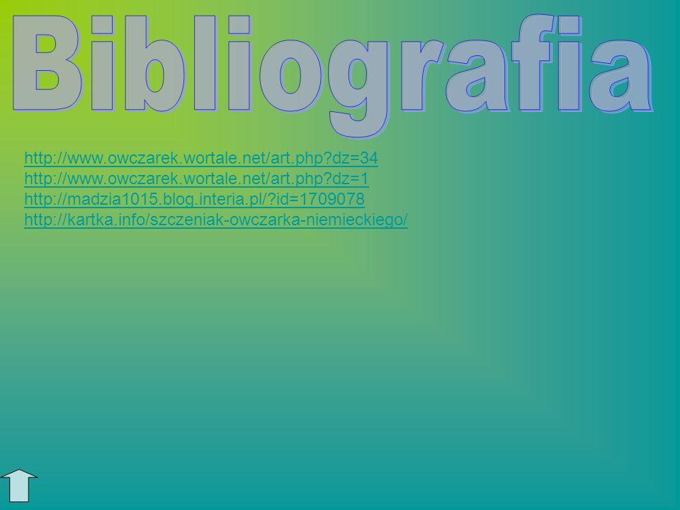 Bibliografia http://www.owczarek.wortale.net/art.php dz=34