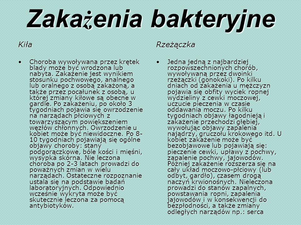 Zakażenia bakteryjne Kiła Rzeżączka