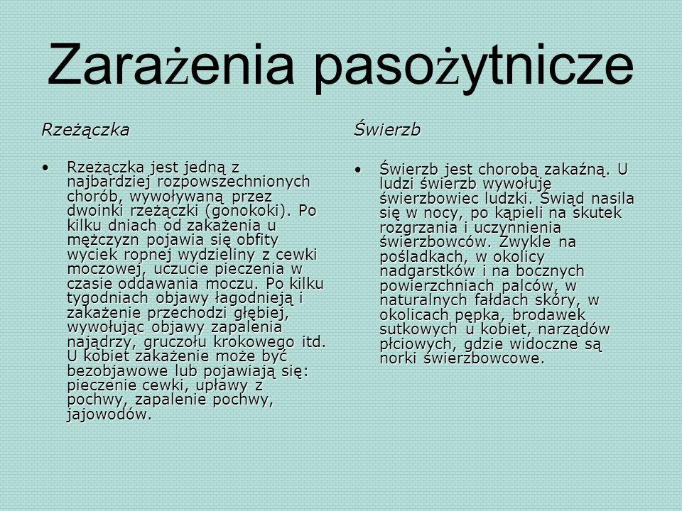Zarażenia pasożytnicze
