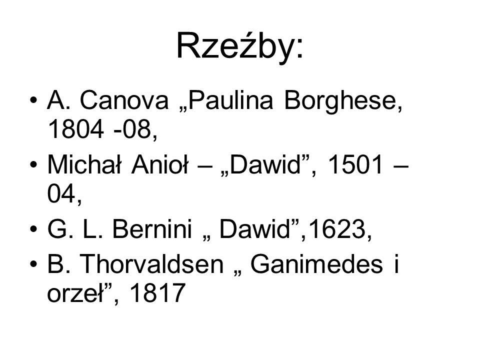 "Rzeźby: A. Canova ""Paulina Borghese, 1804 -08,"