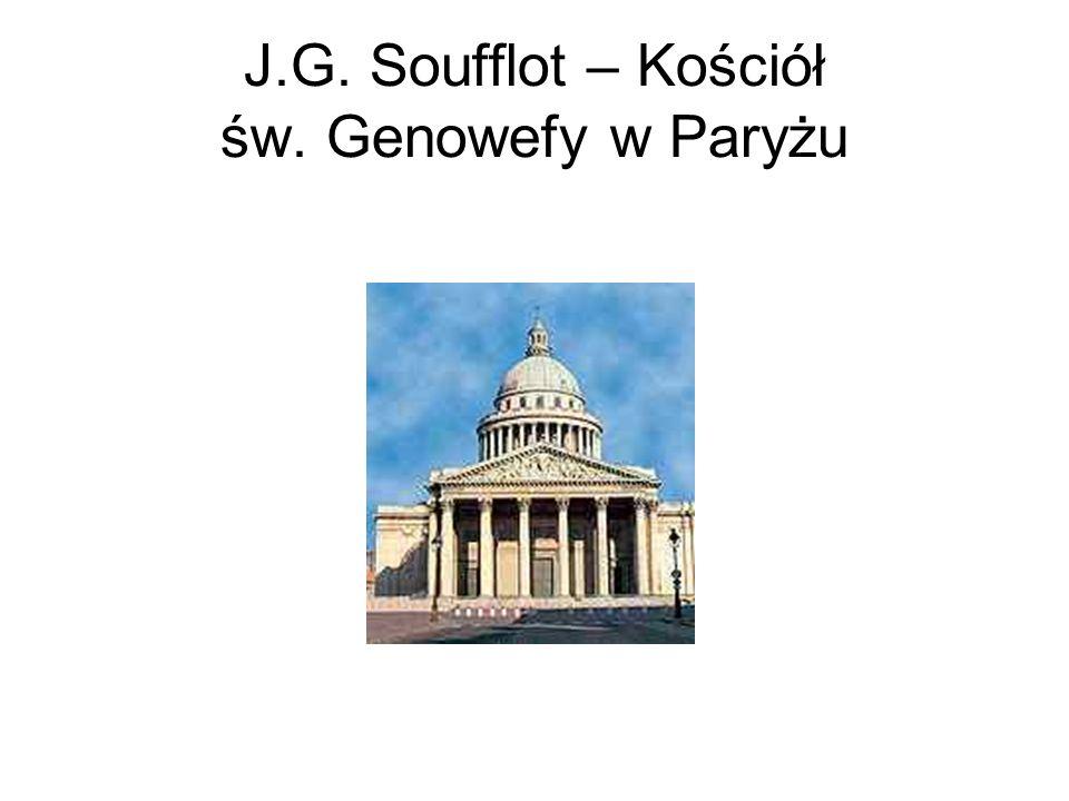 J.G. Soufflot – Kościół św. Genowefy w Paryżu