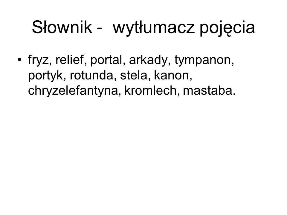 Słownik - wytłumacz pojęcia