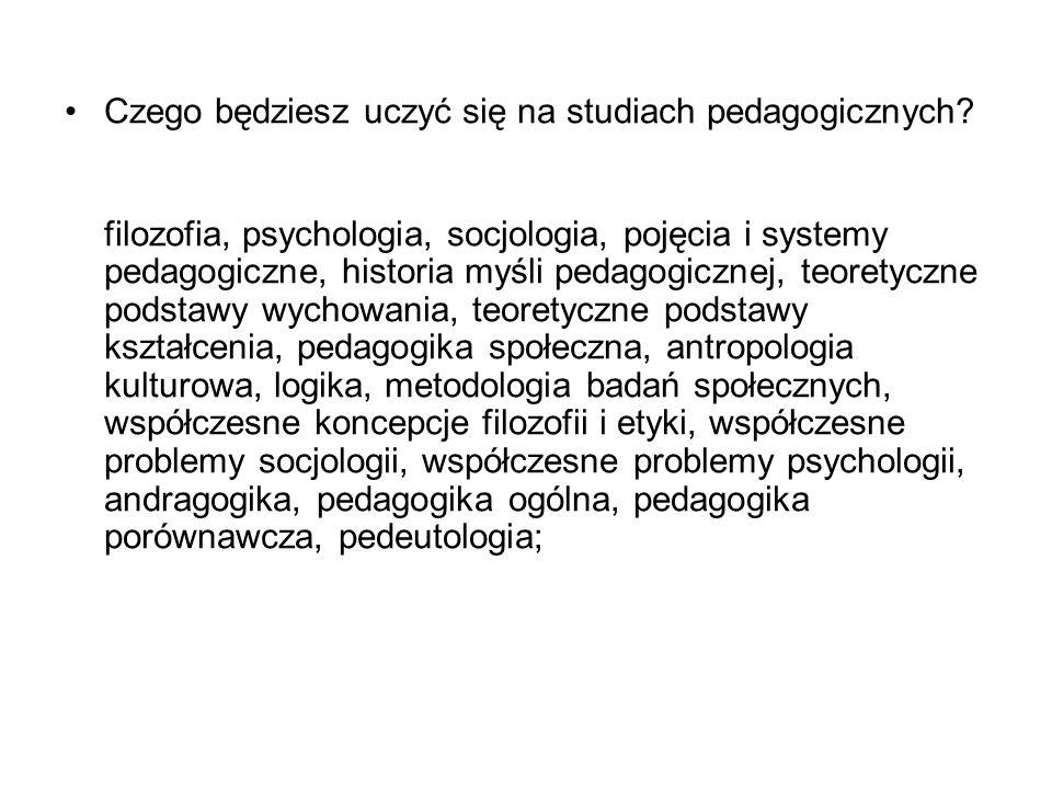 Czego będziesz uczyć się na studiach pedagogicznych