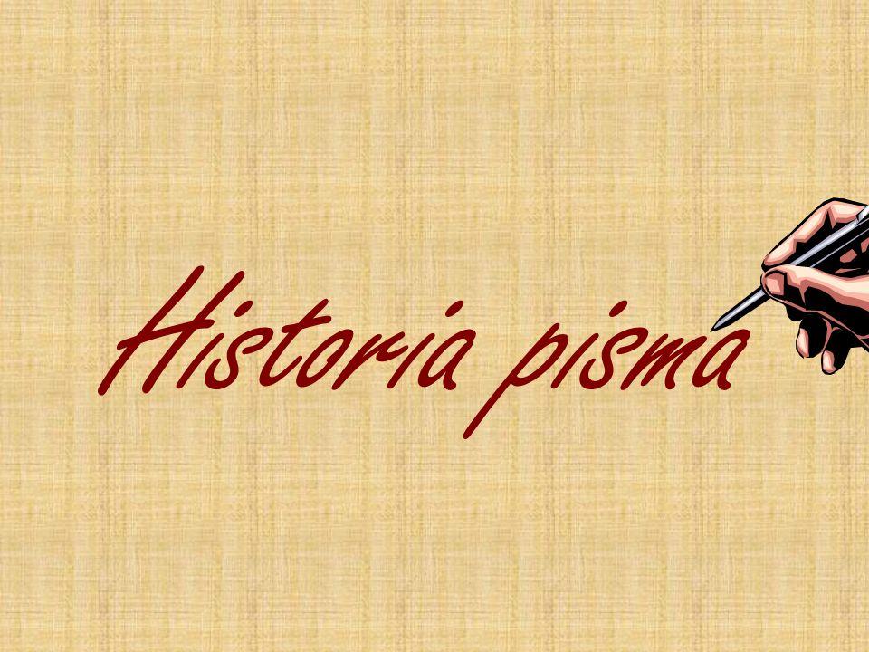 Historia pisma