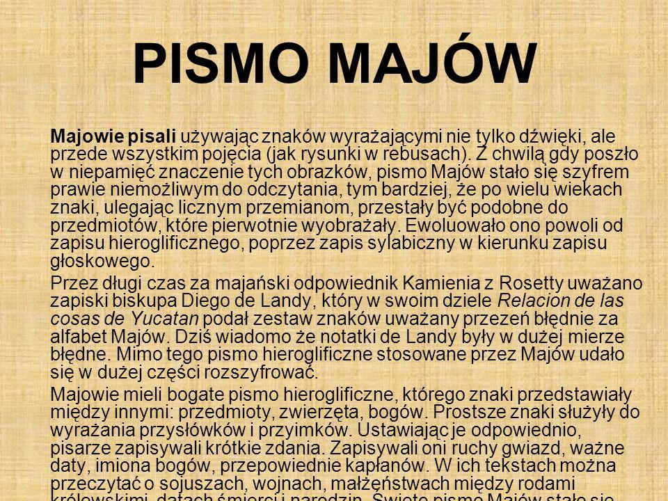 PISMO MAJÓW