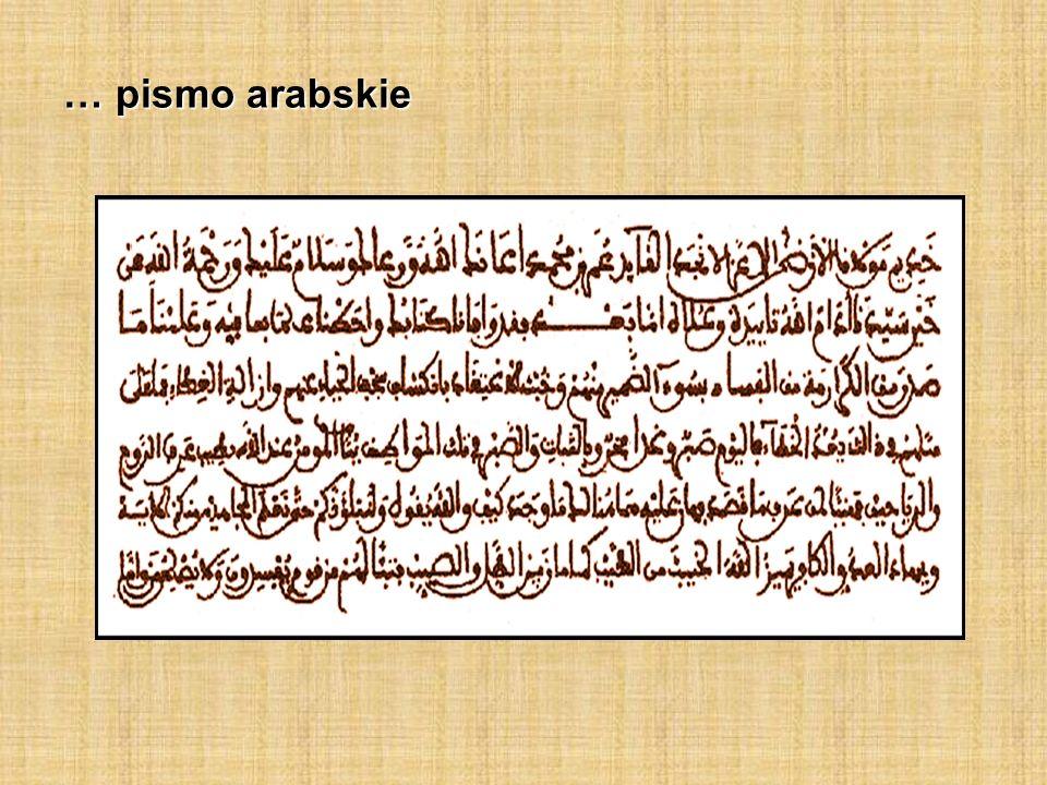 … pismo arabskie