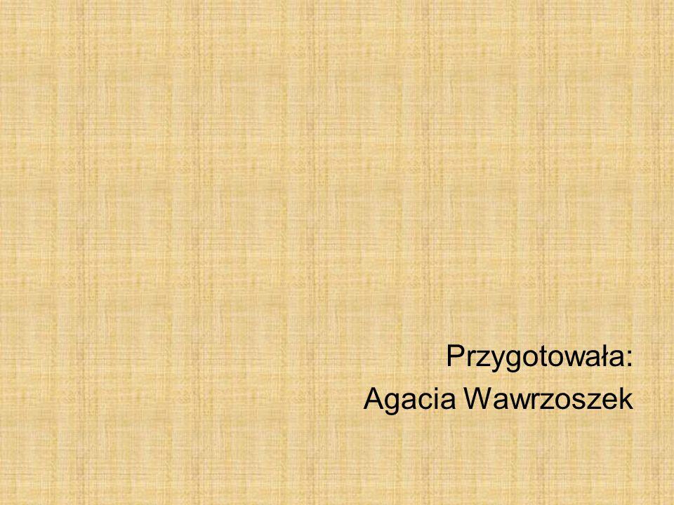 Przygotowała: Agacia Wawrzoszek