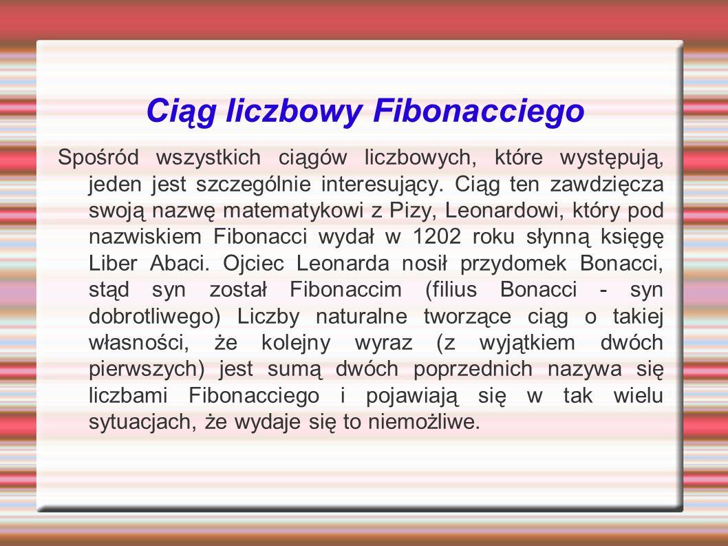 Ciąg liczbowy Fibonacciego