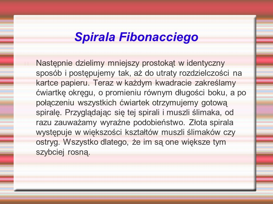 Spirala Fibonacciego