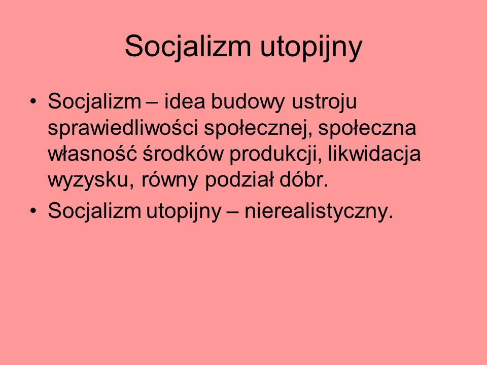 Socjalizm utopijny