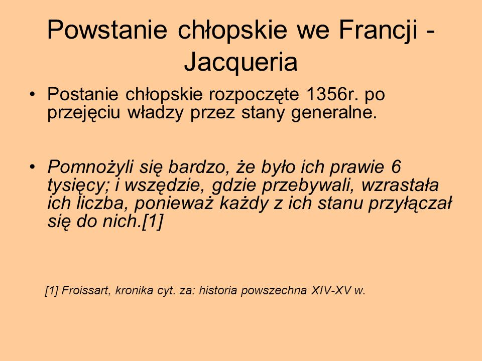 Powstanie chłopskie we Francji -Jacqueria