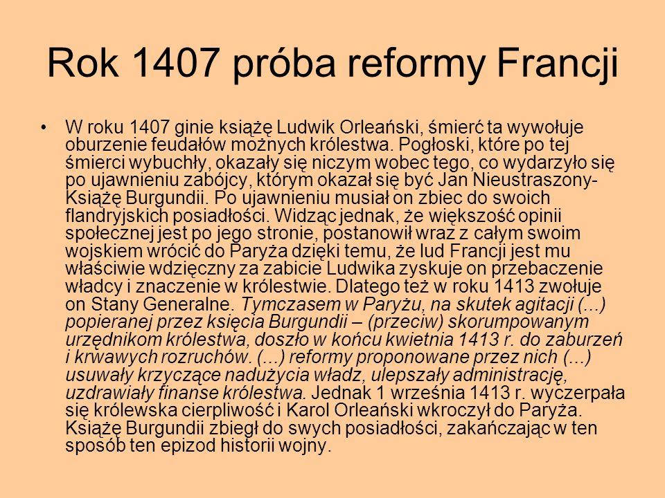 Rok 1407 próba reformy Francji