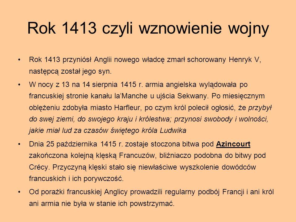Rok 1413 czyli wznowienie wojny