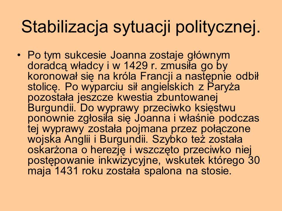 Stabilizacja sytuacji politycznej.
