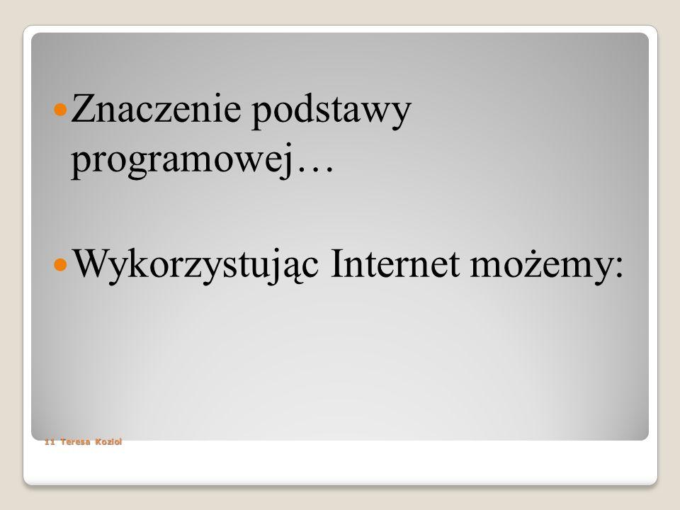 Znaczenie podstawy programowej…