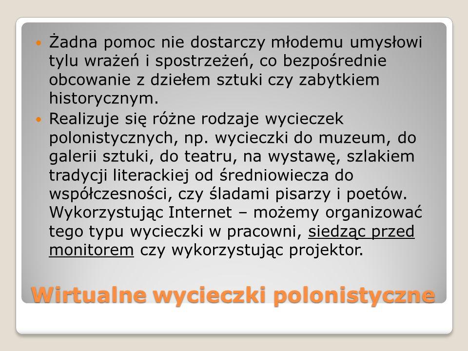 Wirtualne wycieczki polonistyczne