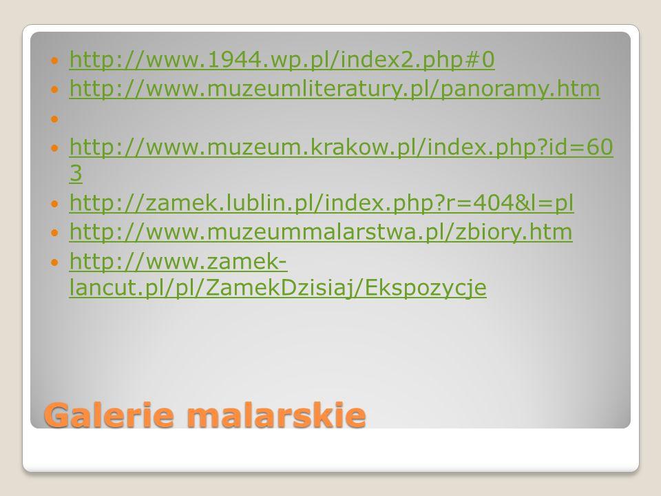 Galerie malarskie http://www.1944.wp.pl/index2.php#0