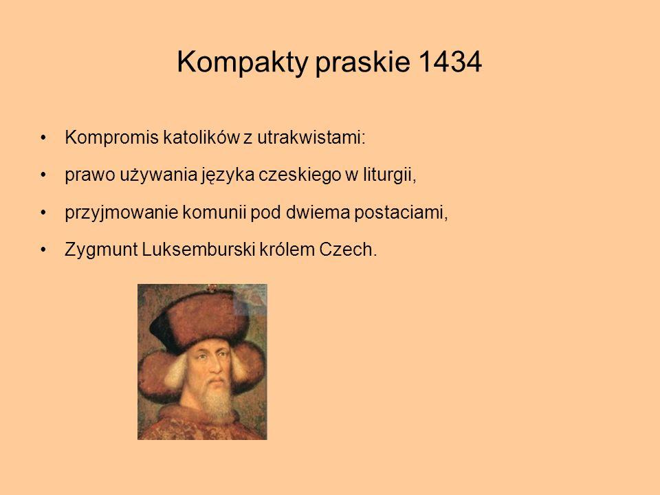 Kompakty praskie 1434 Kompromis katolików z utrakwistami: