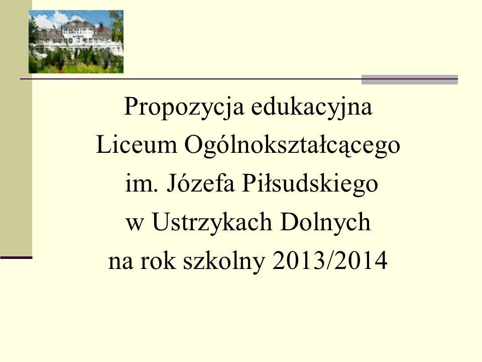 Propozycja edukacyjna Liceum Ogólnokształcącego
