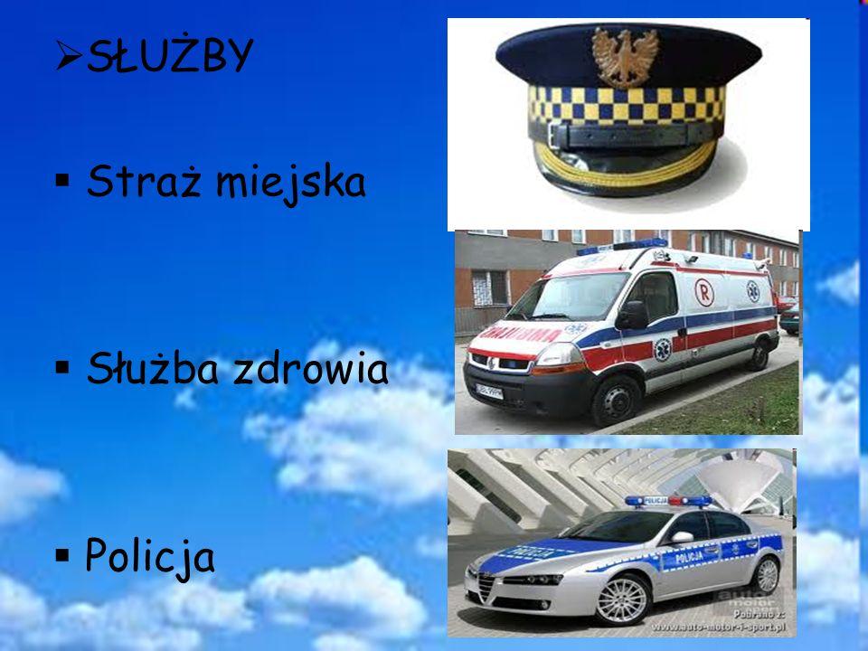 SŁUŻBY Straż miejska Służba zdrowia Policja