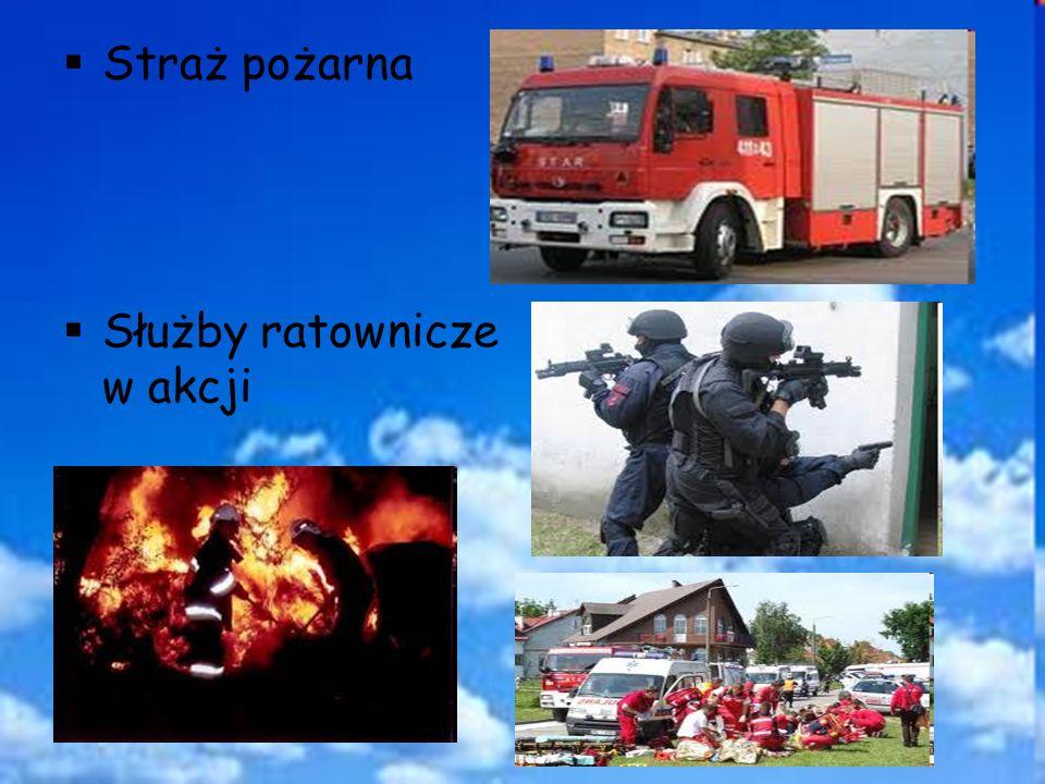 Straż pożarna Służby ratownicze w akcji