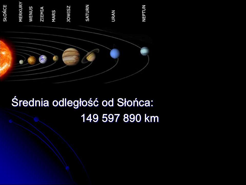 Średnia odległość od Słońca: