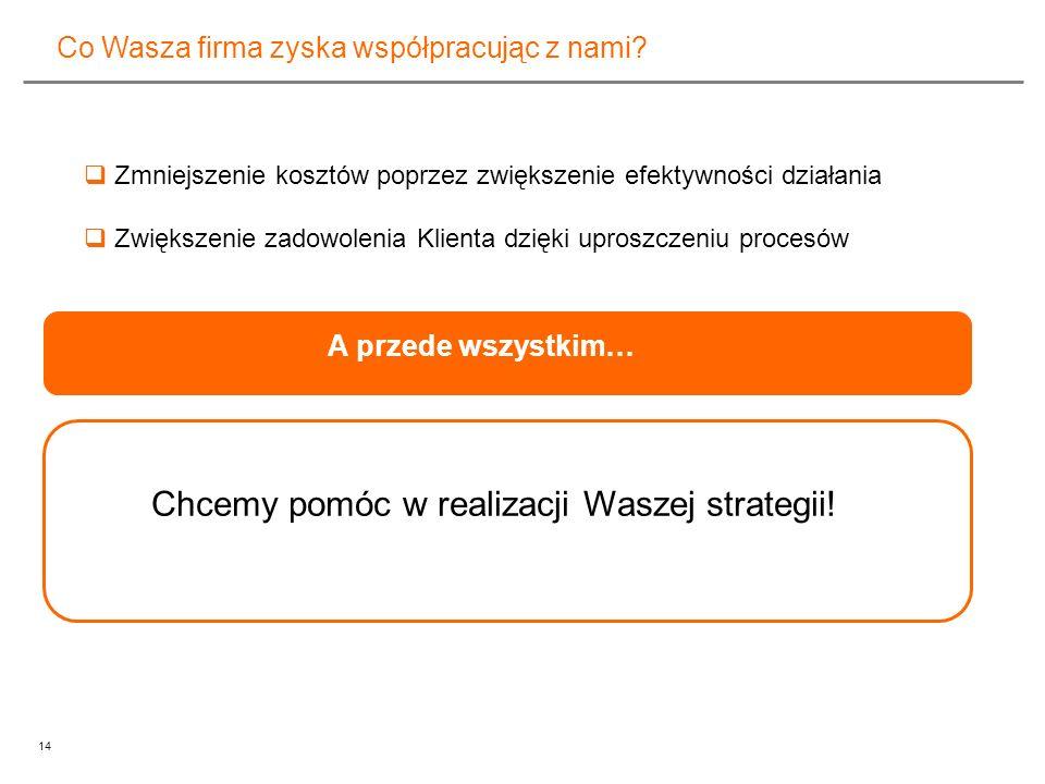 Chcemy pomóc w realizacji Waszej strategii!