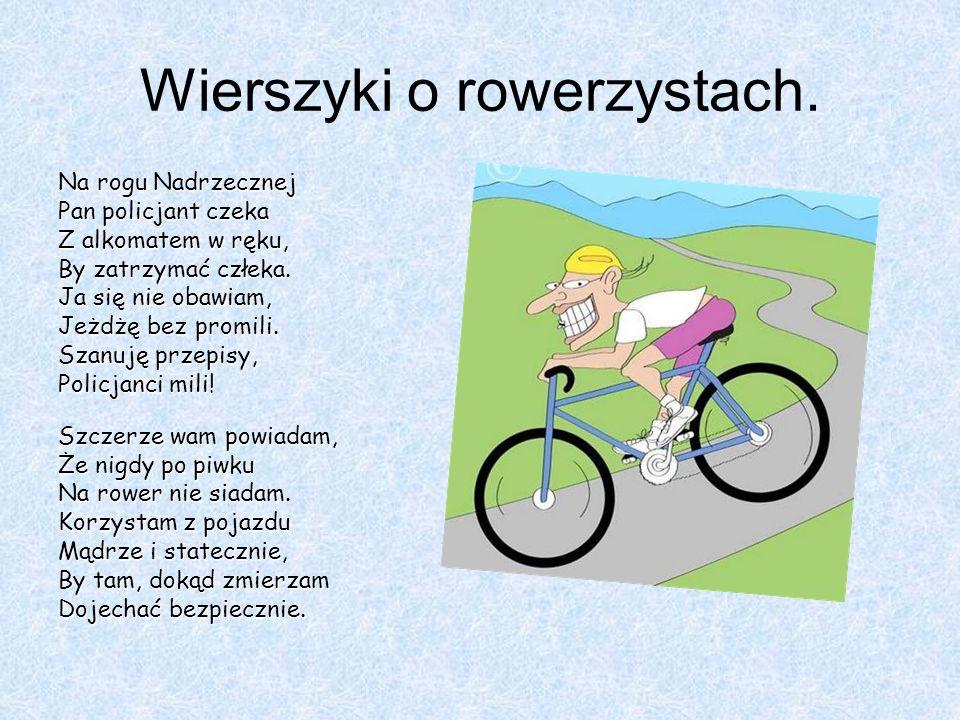 Wierszyki o rowerzystach.