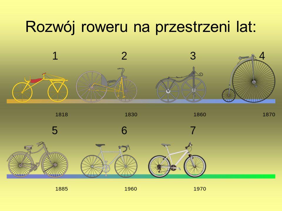 Rozwój roweru na przestrzeni lat: