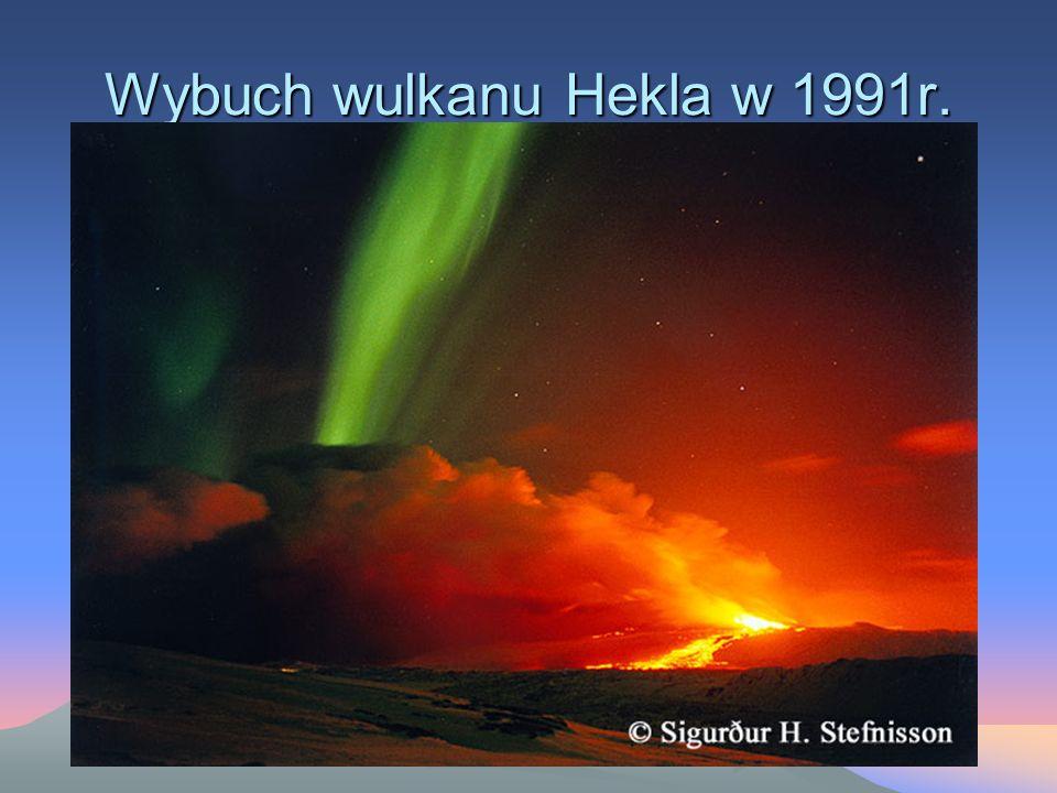 Wybuch wulkanu Hekla w 1991r.