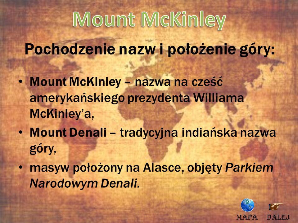 Pochodzenie nazw i położenie góry: