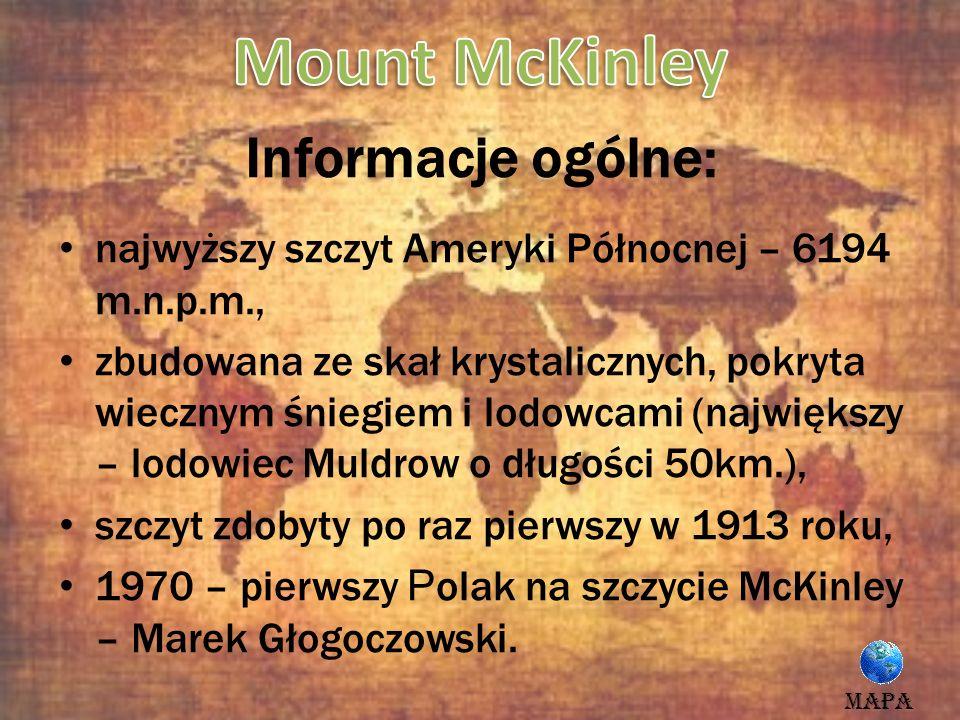 Mount McKinley Informacje ogólne: