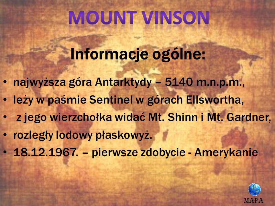 Mount Vinson Informacje ogólne: