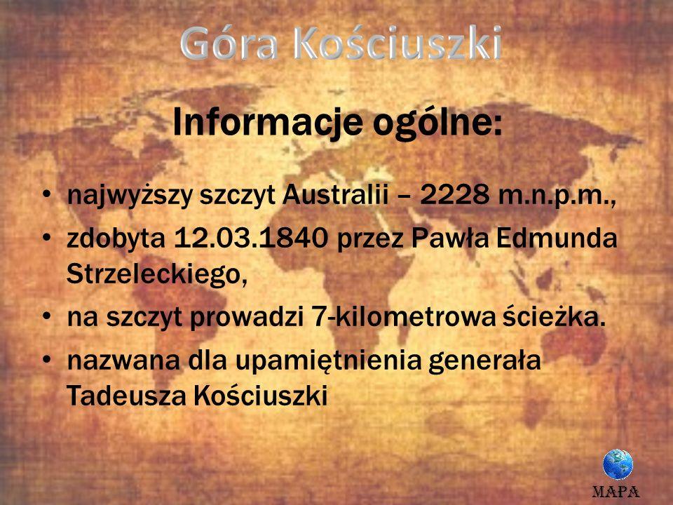 Góra Kościuszki Informacje ogólne: