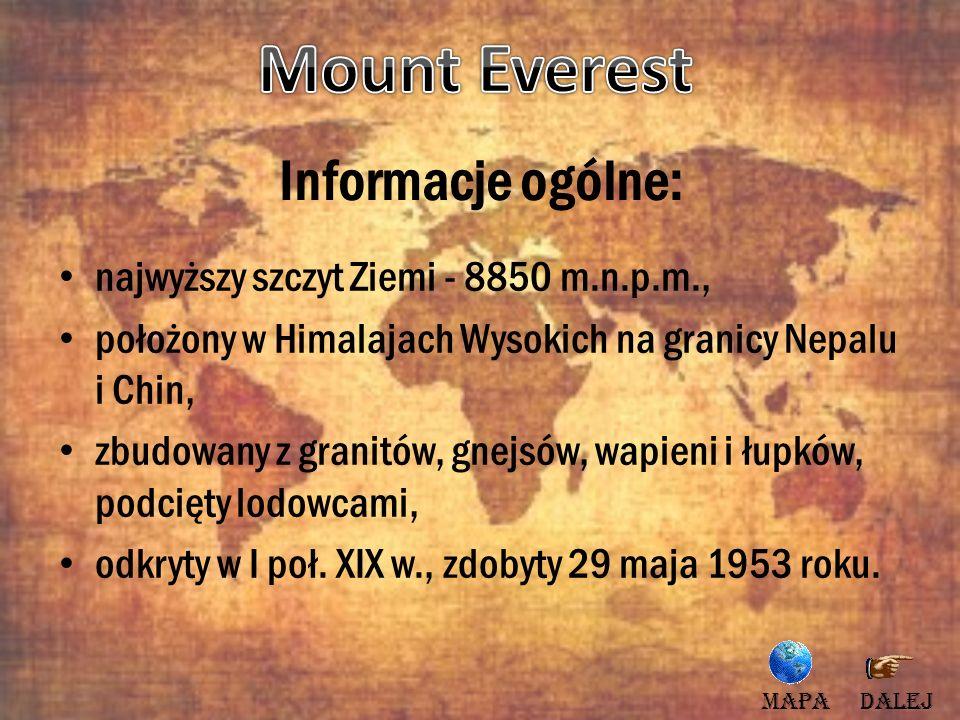 Mount Everest Informacje ogólne: