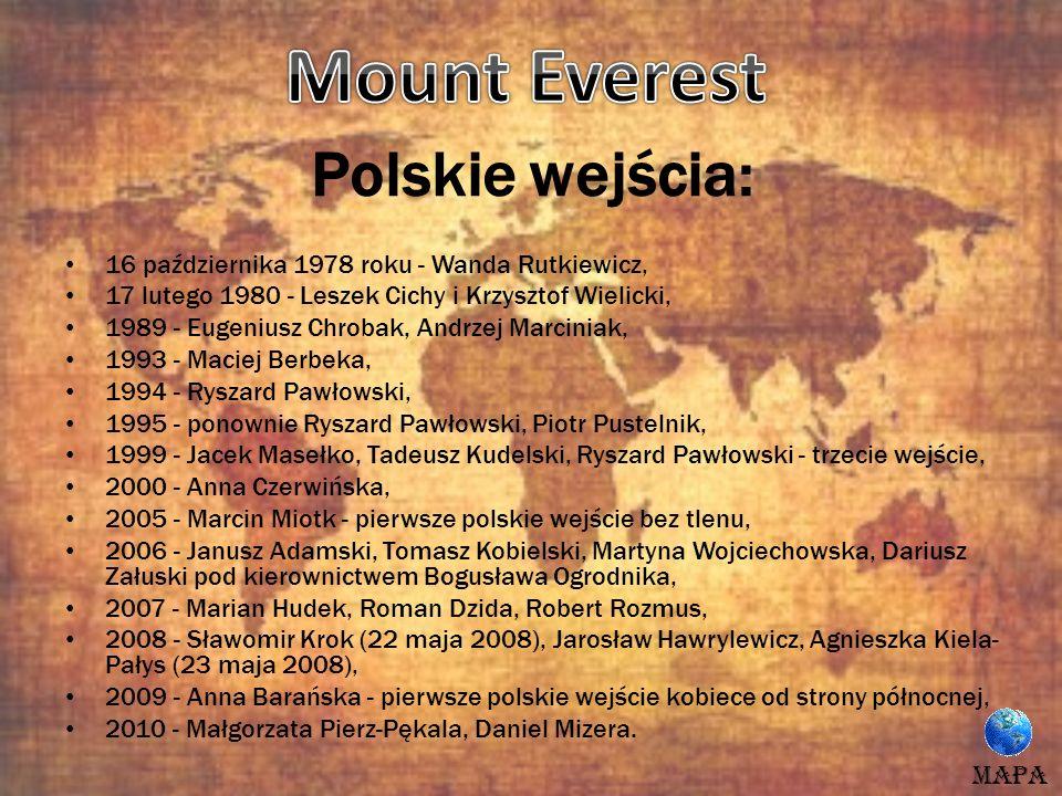Mount Everest Polskie wejścia: