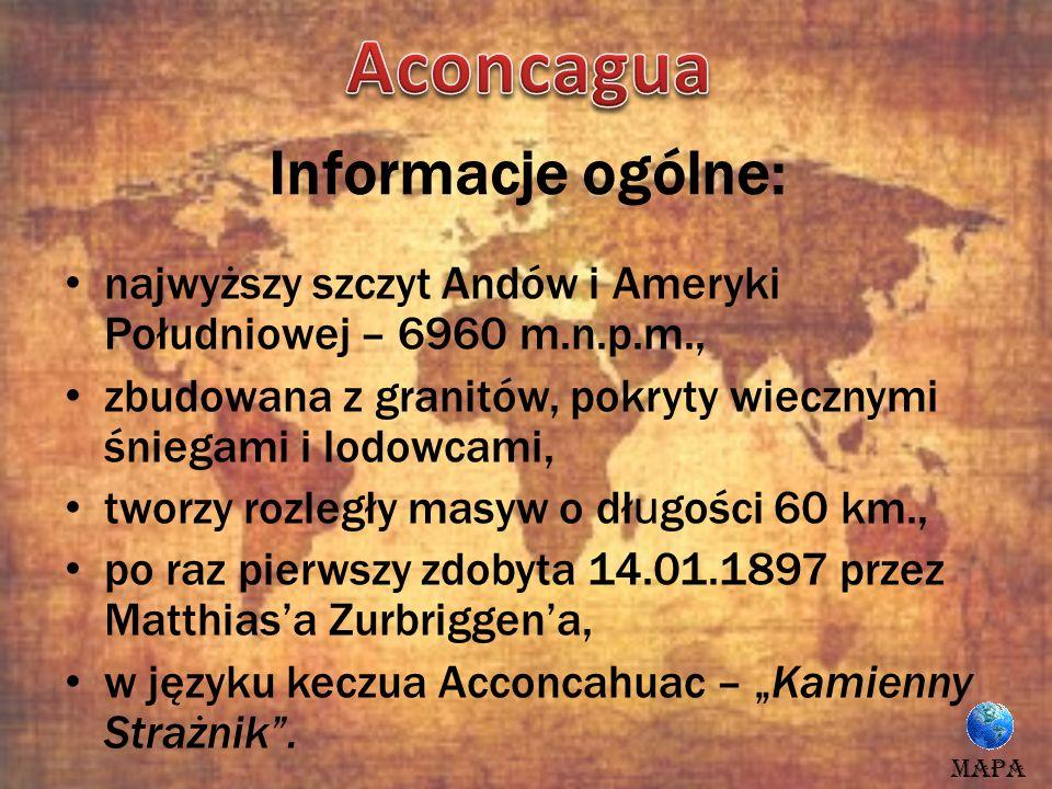 Aconcagua Informacje ogólne: