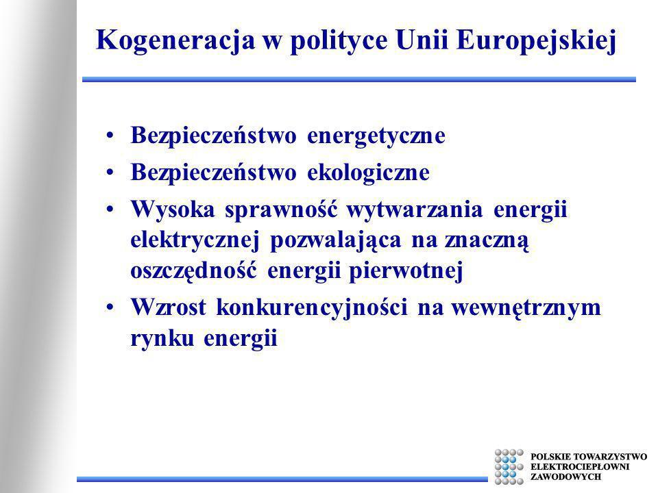 Kogeneracja w polityce Unii Europejskiej
