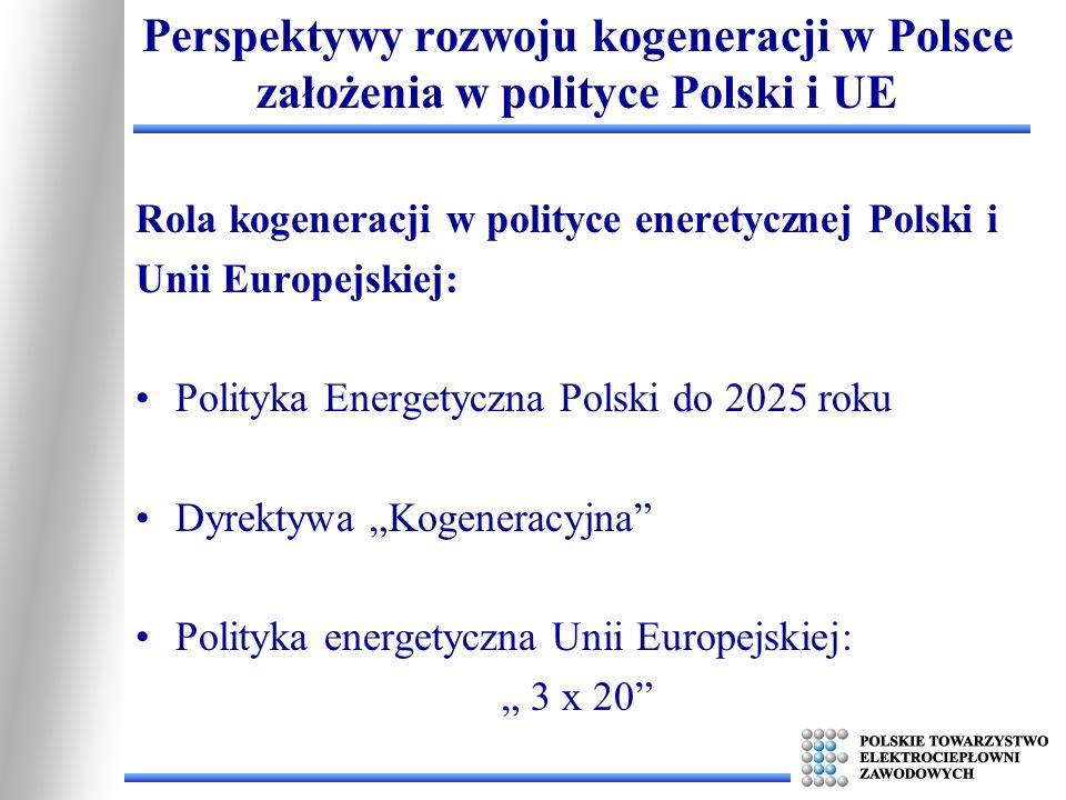 Perspektywy rozwoju kogeneracji w Polsce założenia w polityce Polski i UE