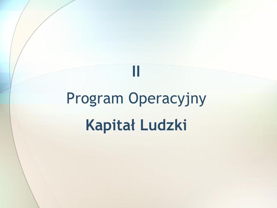 II Program Operacyjny Kapitał Ludzki