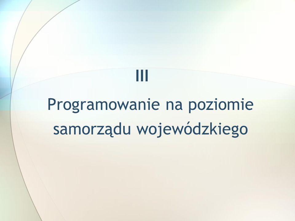 Programowanie na poziomie samorządu wojewódzkiego
