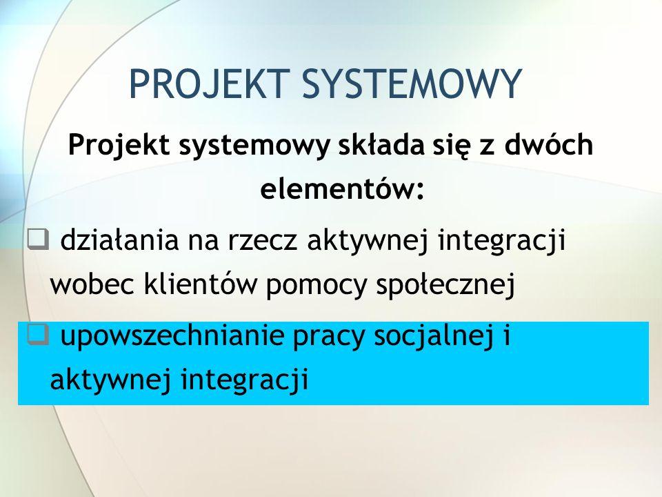 Projekt systemowy składa się z dwóch elementów: